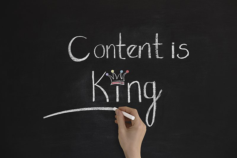 Chalkboard Sign Saying Content is King