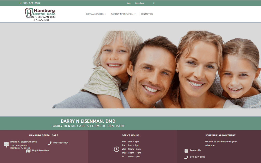 Evans Alliance Creates New Client Website – Hamburg Dental Care